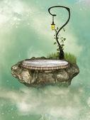 Floating rock — Stock Photo