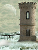 Tower in the ocean — Stock Photo