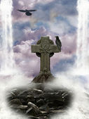 Cross in the heaven — Stock Photo