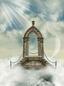 Arch with stairway in the sea — 图库照片