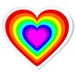 Royalty-Free Stock Vector Image: Rainbow heart sticker