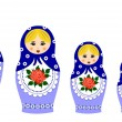 Traditional matryoschka dolls — Stock Vector