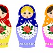 Traditional russian matryoshka — Stock Vector
