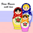 traditional russian matryoschka dolls — Stock Vector