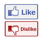 Like and dislike button — Stock Vector