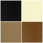 Set of leather textures — Stock Vector