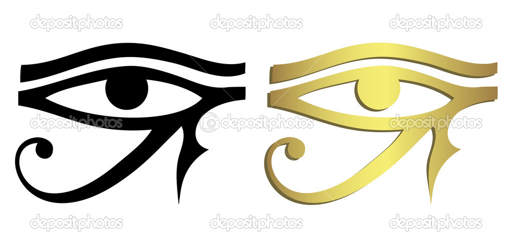 Eye of Horus in black and gold  Stock Vector #11542494