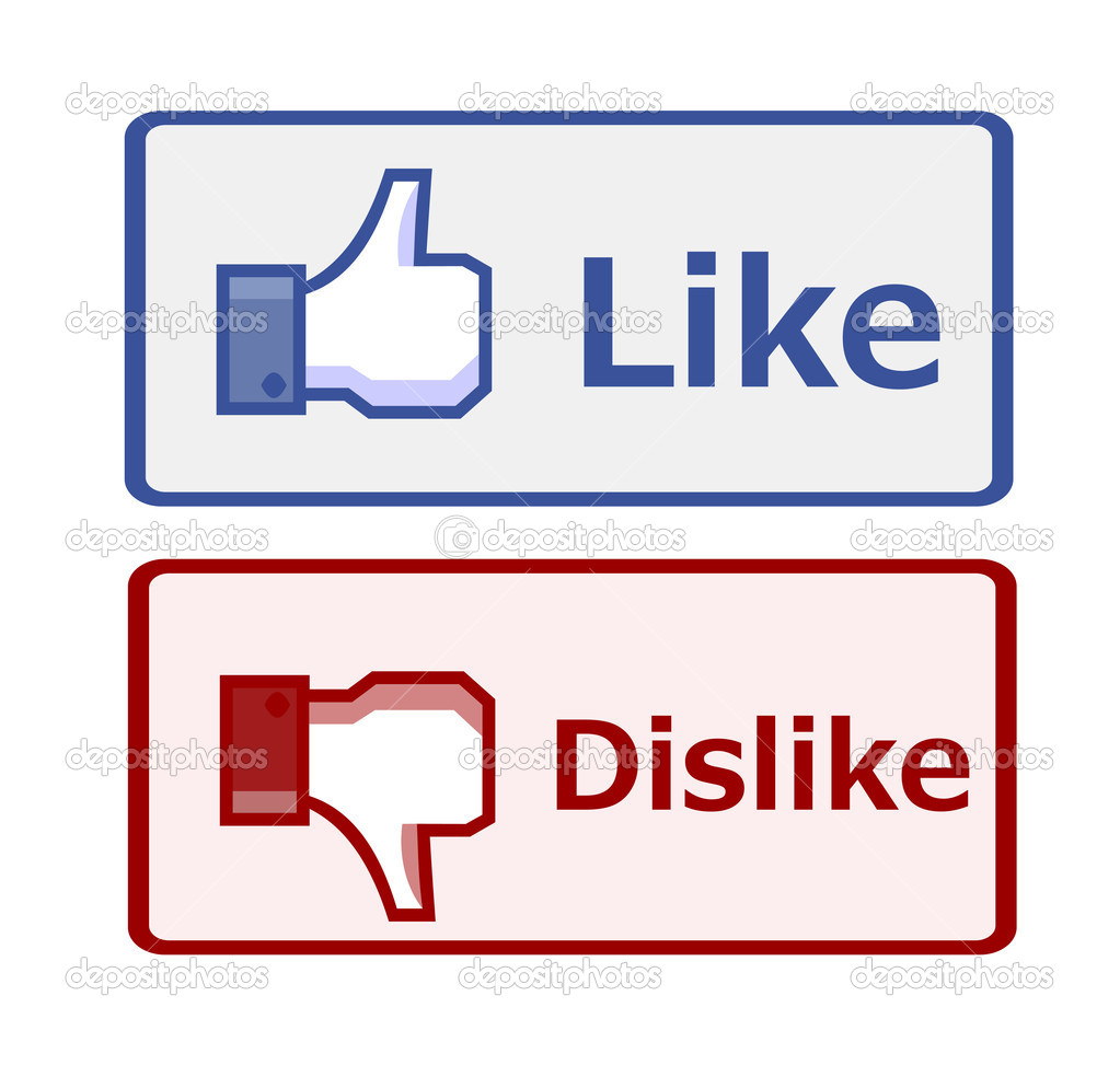 Like and dislike button — Stock Vector © PiXXart #11542509