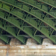 Steel structure under a bridge — Stock Photo