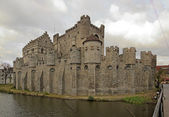 Castle of the Counts dated 1180 — Stock Photo