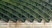 Steel structure under a bridge — Stock Photo