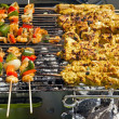 Skewer party — Stock Photo