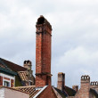 Stock Photo: Chimneys typical of flanders