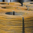 Rolls of steel wire — Stock Photo