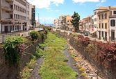 Dry riverbed in Funchal Madeira — Stock Photo