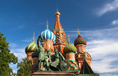 St.Basil's Cathedral on the Red Square in Moscow — Stock Photo