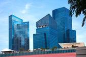Singapore skyscraper — Stock Photo