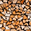 Stack of chopped up wood - Stock Photo