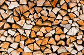 Stack of chopped up wood — Stock Photo