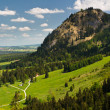 A view to Bavarian Alps from the Neuschwanstein Castle - Stock Photo