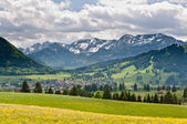 A view to Buching village in Bavarian Alps — Stock Photo