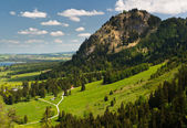 A view to Bavarian Alps from the Neuschwanstein Castle — Stock Photo