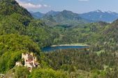 Hohenschwangau Castle and Schwansee lake — Stock Photo