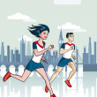 London Runners — Stock Vector