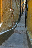 Narrow alley in Stockholm — Stock Photo