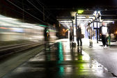 Train station at night — Stock Photo