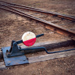 Railway switch — Stock Photo