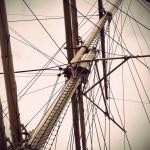 Mast of old sailing ship — Stock Photo #11173956