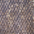 Stock Photo: Rusty metal grid