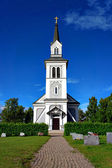 Wooden country church — Stock Photo