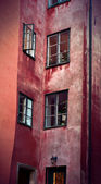 Facade in Stockholm old town — Stock Photo