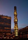 Città di stoccolma di notte — Foto Stock