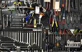 Muur met tools — Stockfoto