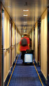 Blurred in hotel corridor — Stock Photo