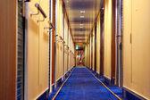 Blurred in hotel corrido — Stock Photo