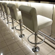 Row of bar stools — Stock Photo