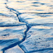 Crack in ice — Stock Photo