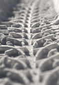 Close up of tire track — Stock Photo