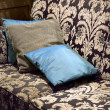Stock Photo: Brown and beige vintage settee