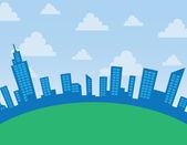 City Skyline Arc — Stock Vector