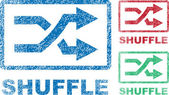Shuffle Icons — Stock Vector