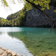 View of The Plitvice Lakes National Park in Croatia - Foto de Stock  
