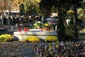 No cemitério de outono — Foto Stock