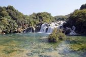 Waterfalls in KRKA river National Park — Stock Photo