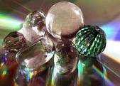 Multicolor kompozycja kolorów i światła w szkle — Zdjęcie stockowe