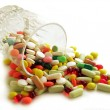 Stock Photo: Multicolor medicines for cure